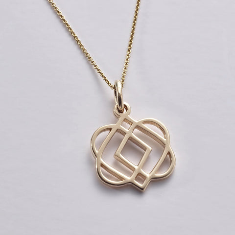 ONENESS Small 14ct / 585 Gold Pendant & Chain