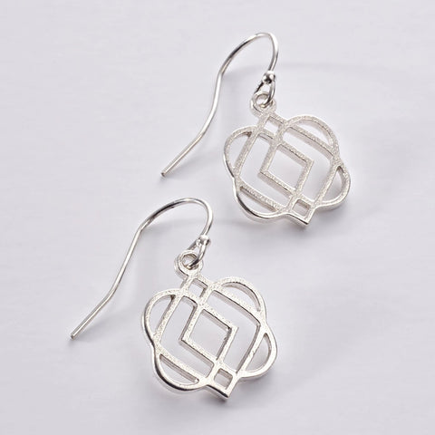 ONS 4 SS:  Silver 'ONENESS' drop earrings (wholesale)