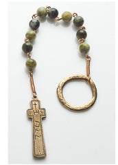 Connemara Marble Irish Penal Rosary with bronze