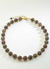 Smoky Quartz Necklace with 14K gold filled