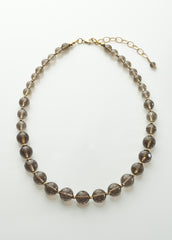Smoky Quartz Graduated Necklace with 14K gold filled
