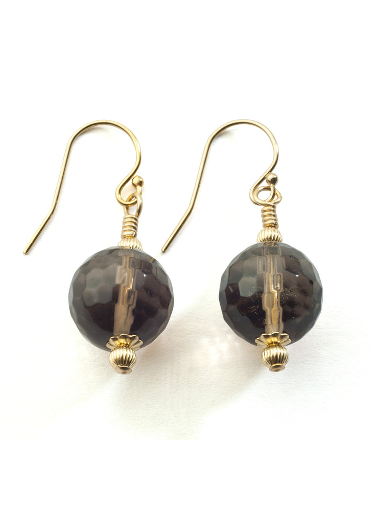 Smoky quartz earrings with 14K gold filled