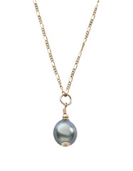 Tahiti Pearl teardrop pendant with 14K gold filled
