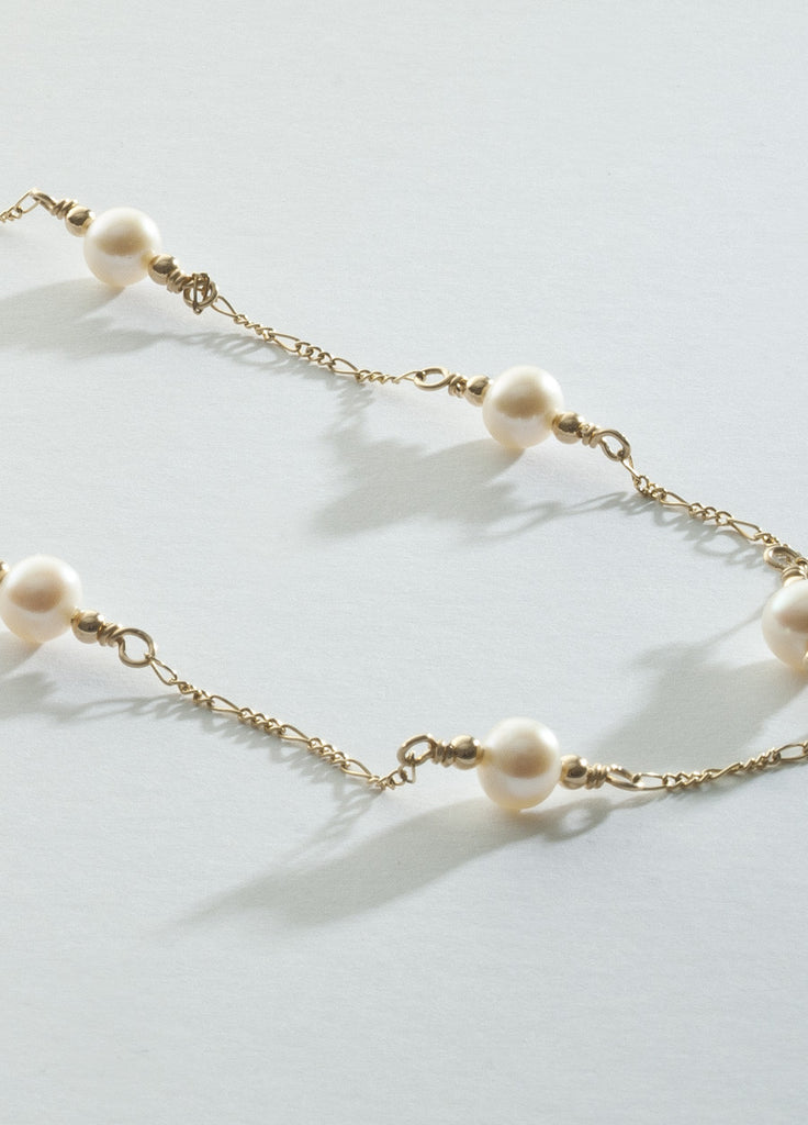 Freshwater Pearl Necklace with 14K gold filled Chaining: long