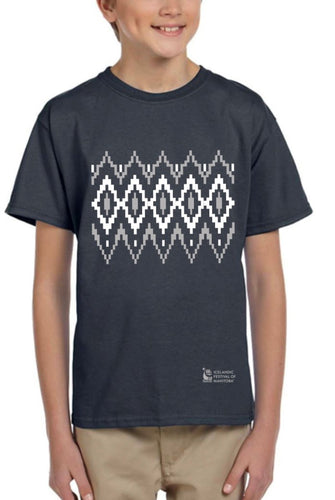 Lopapeysa Inspired - Youth T-Shirt - Grey