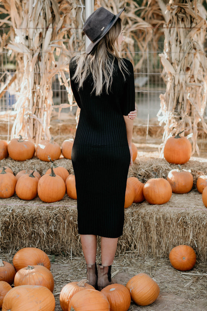 Black Licorice Sweater Dress