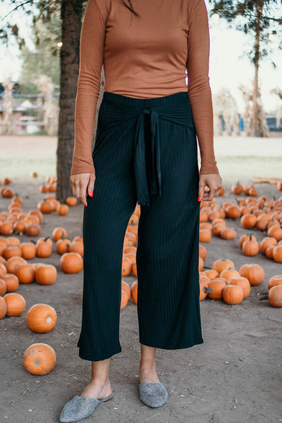 Be right flare ribbed pants