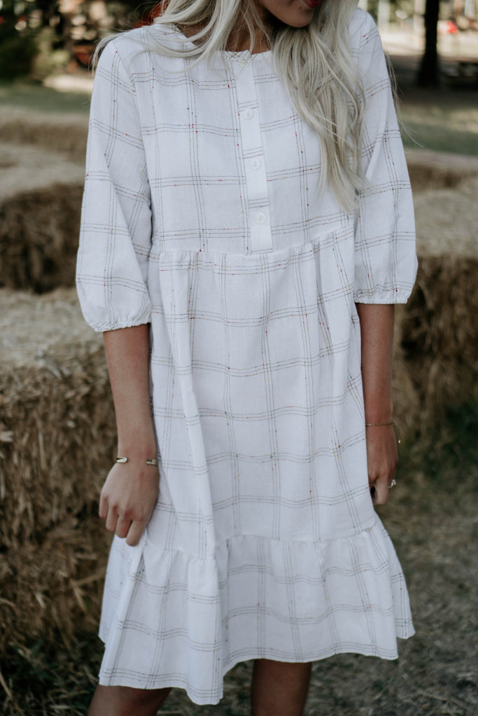 Plaid to see you midi dress