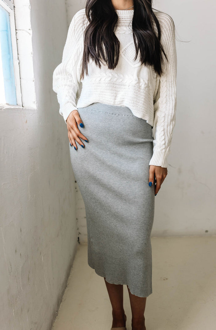 You and I ribbed skirt