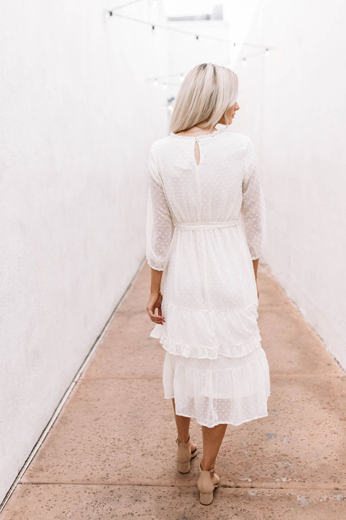 Ivory Darling Midi Dress