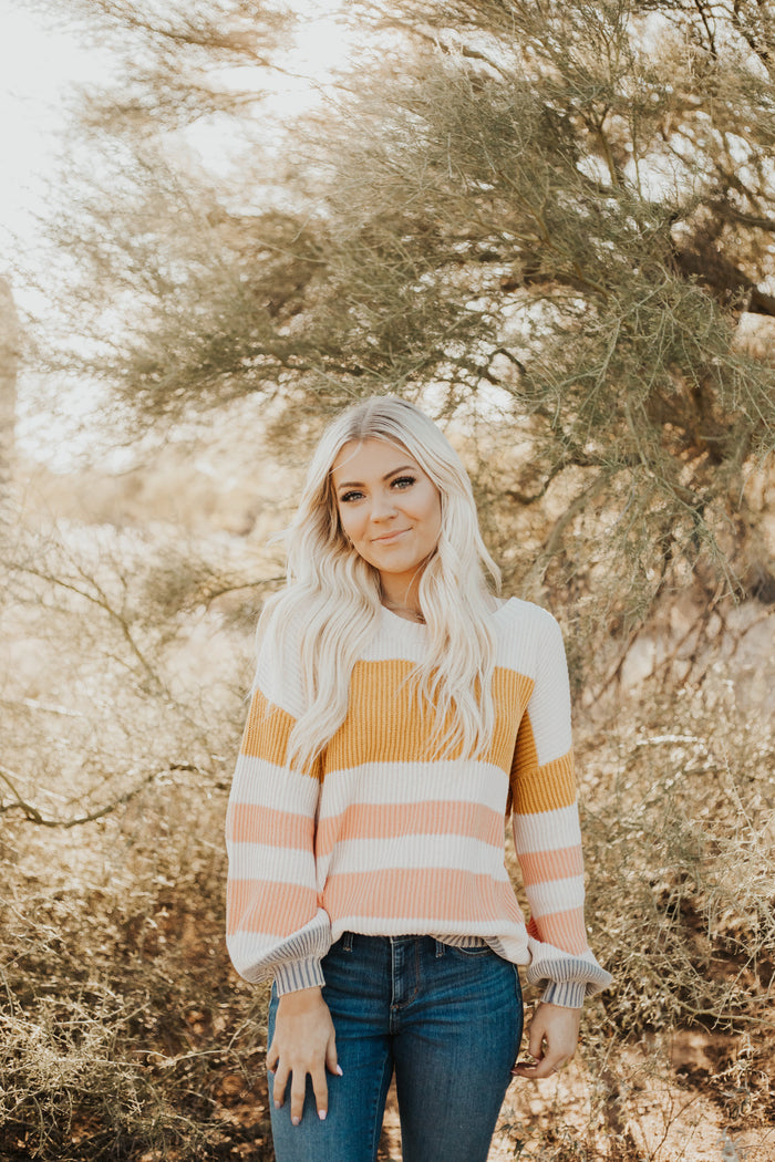 Stripe where I belong Sweater
