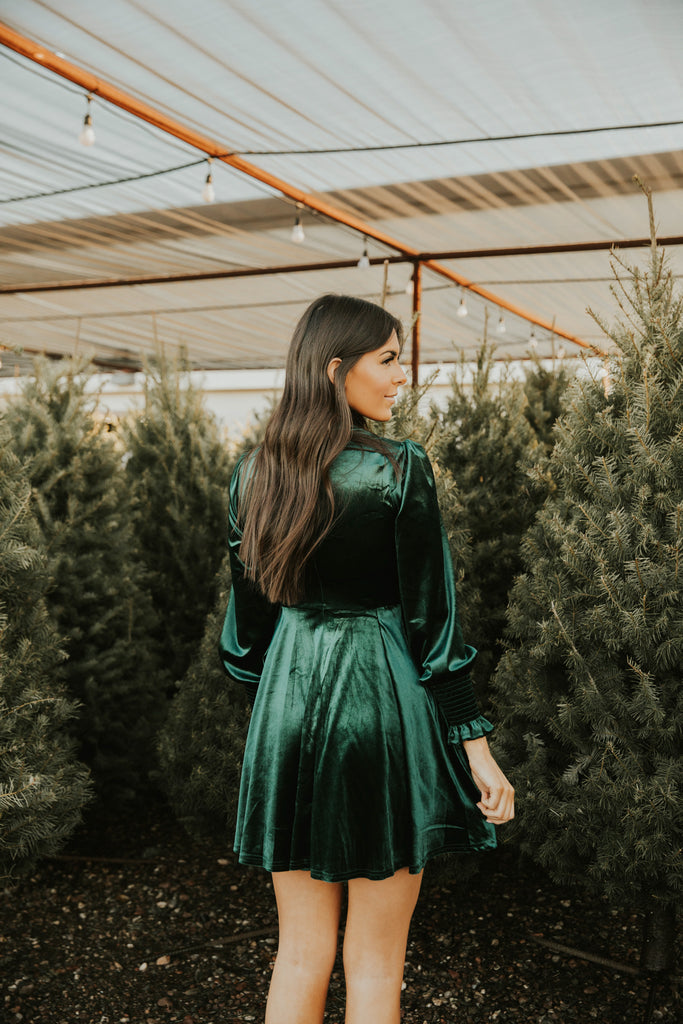 Soften up velvet dress