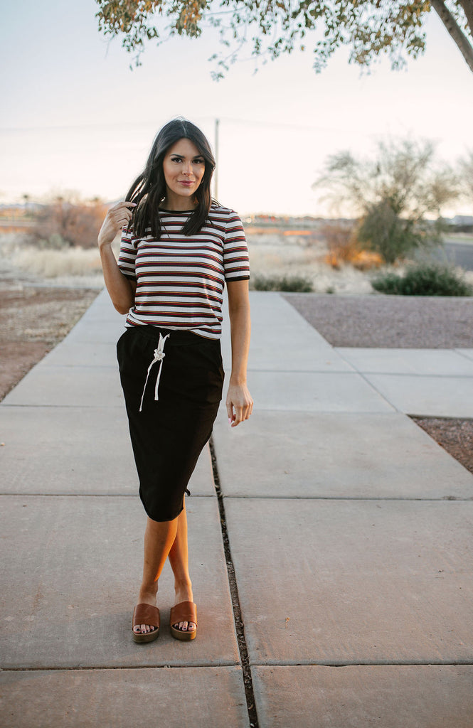 Everyday in Black cotton Skirt