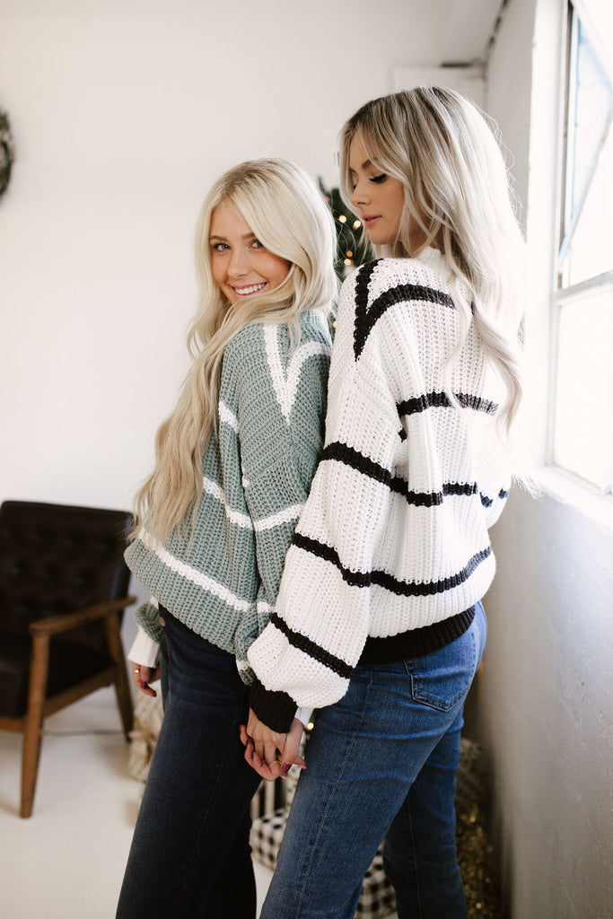Charcoal Striped Sweater