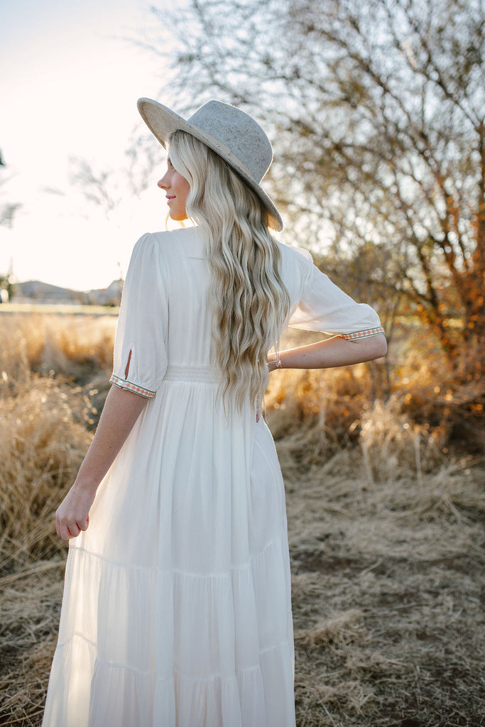 Flirty White Maxi Dress