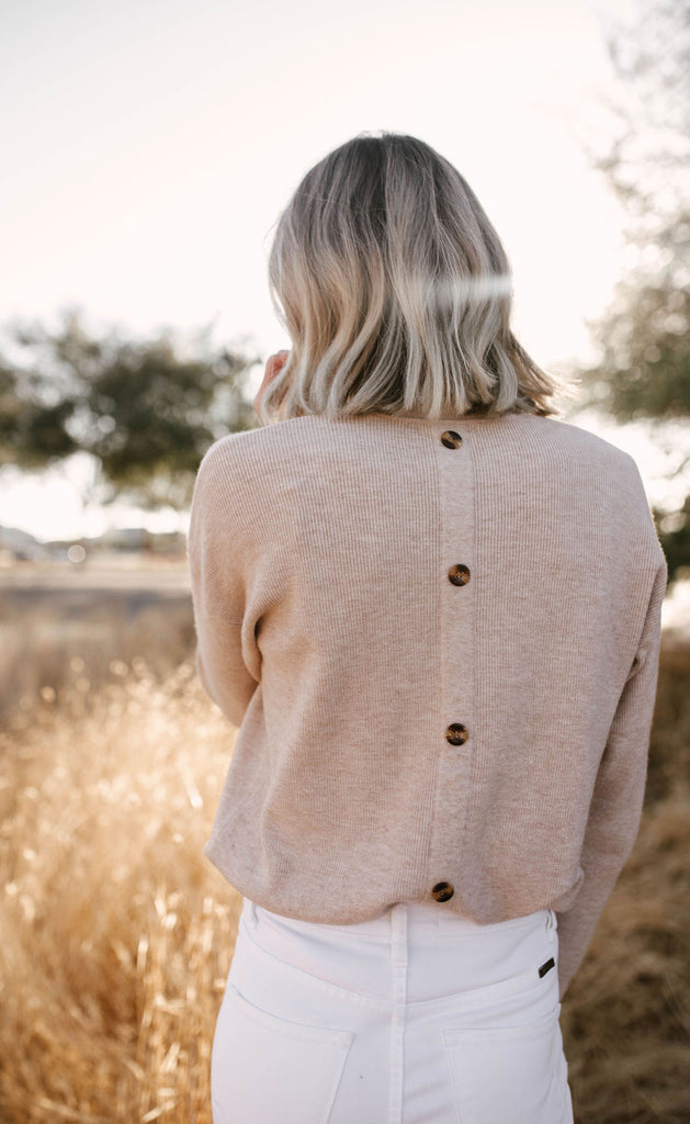 Oatmeal cookie Sweater
