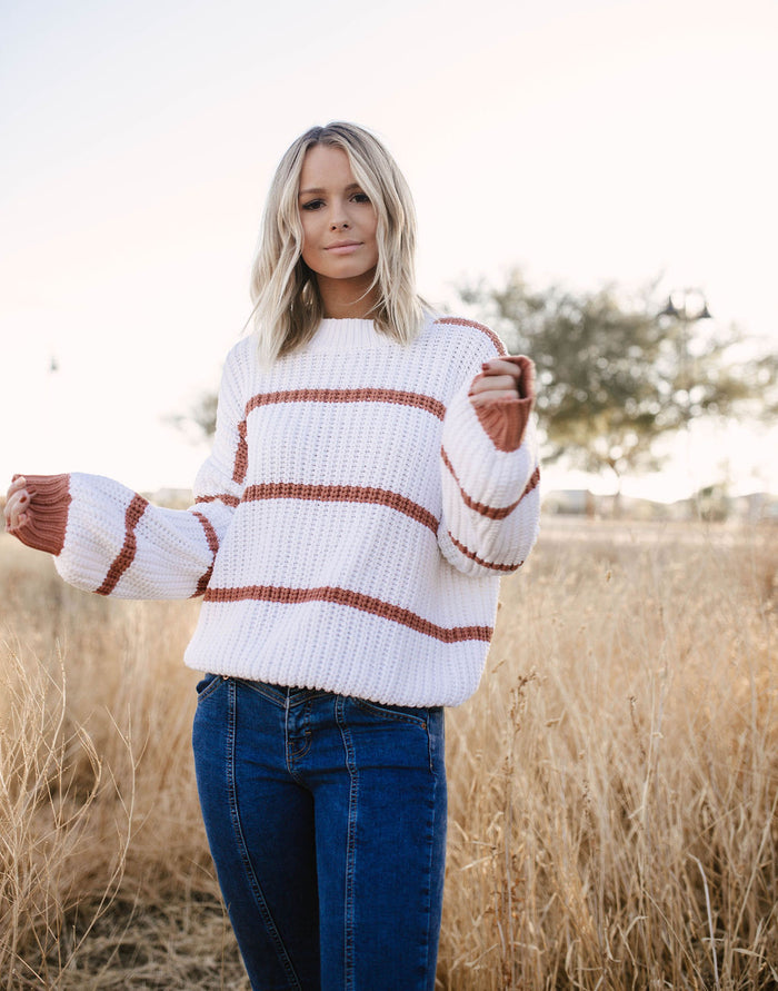Rusty Striped Sweater