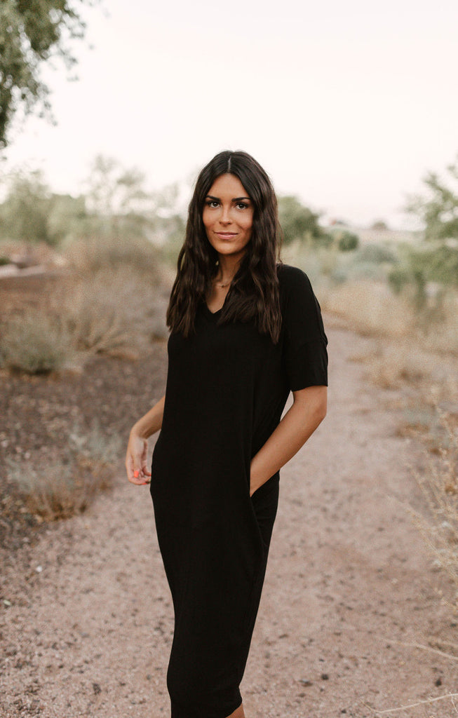 Classic Black T-Shirt Dress