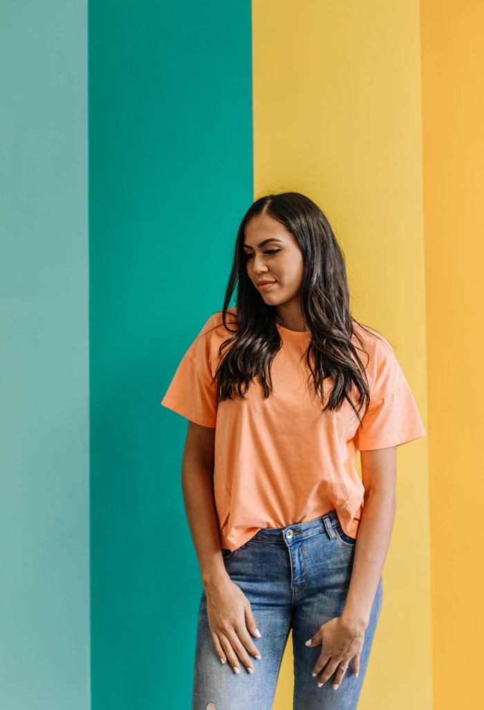 Orange creamsicle tee