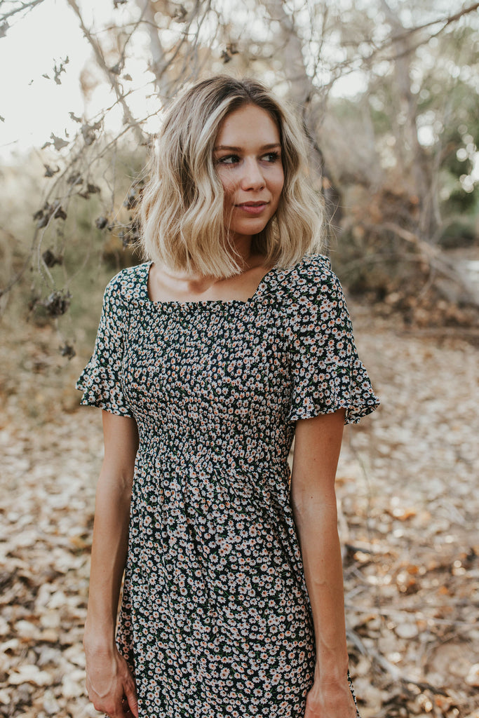 Navy Daisy Dress