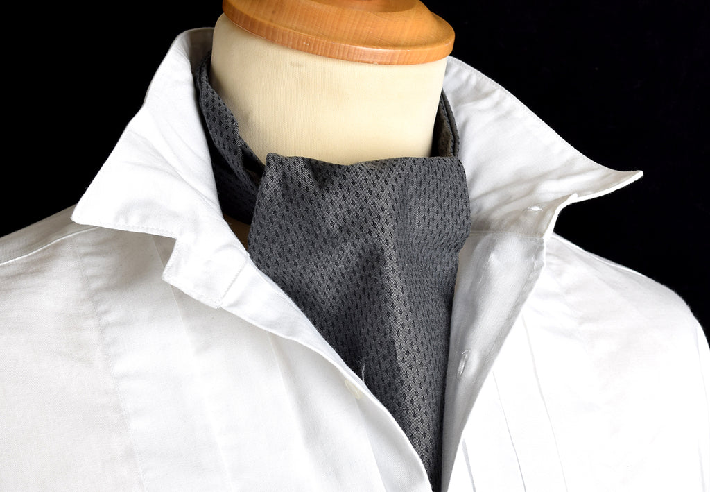 Textured Cotton Cravat (CR572) - Light Grey