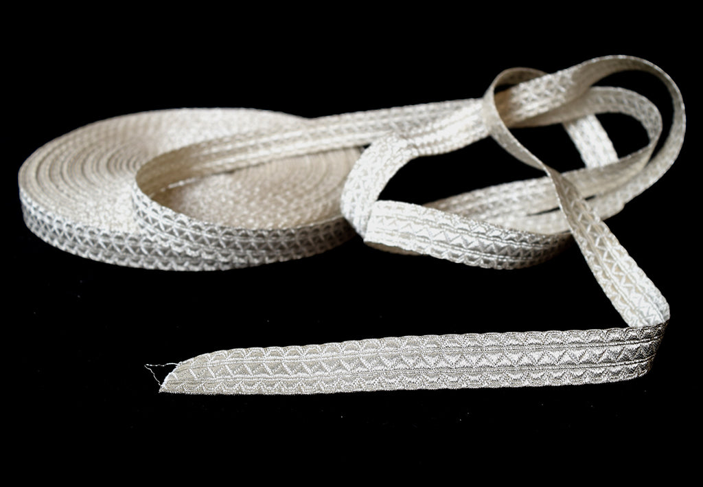 Silver Mylar Military Braid 15mm (BDS002)