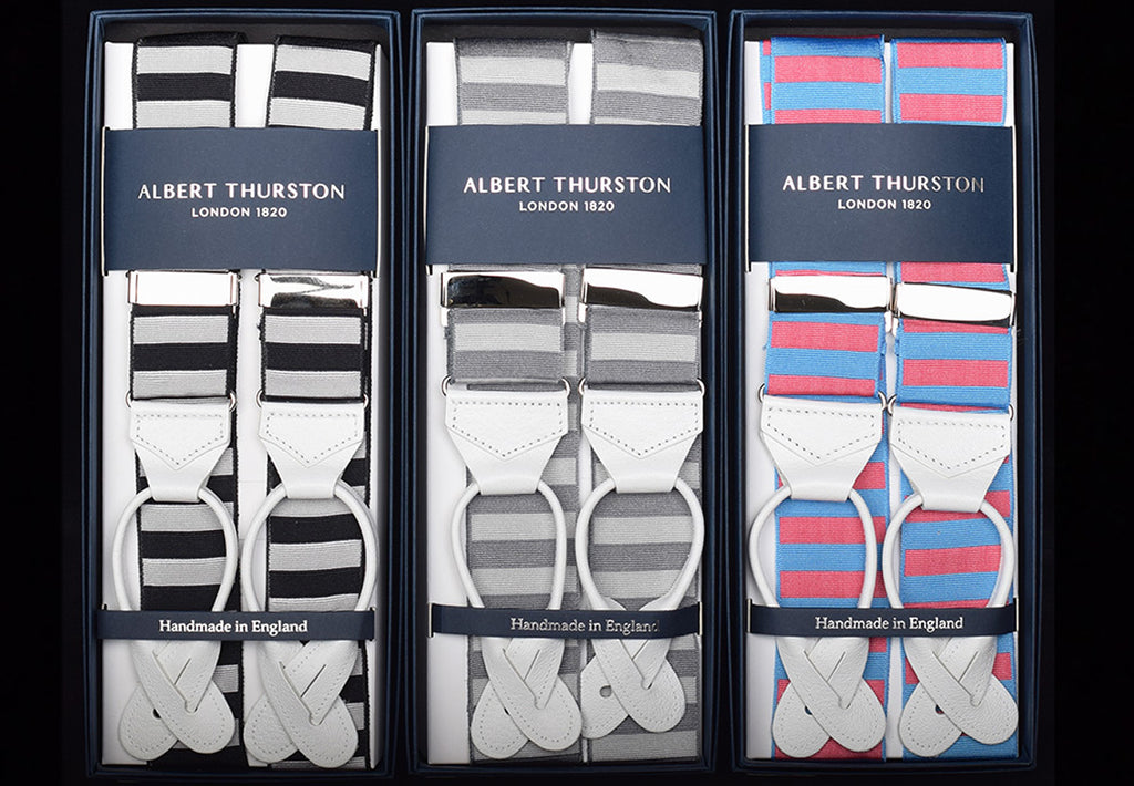 Horizontal Stripe Ribbon Braces (BR740)