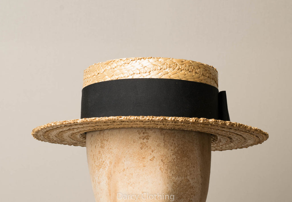 Straw Boater Hat (HA112)