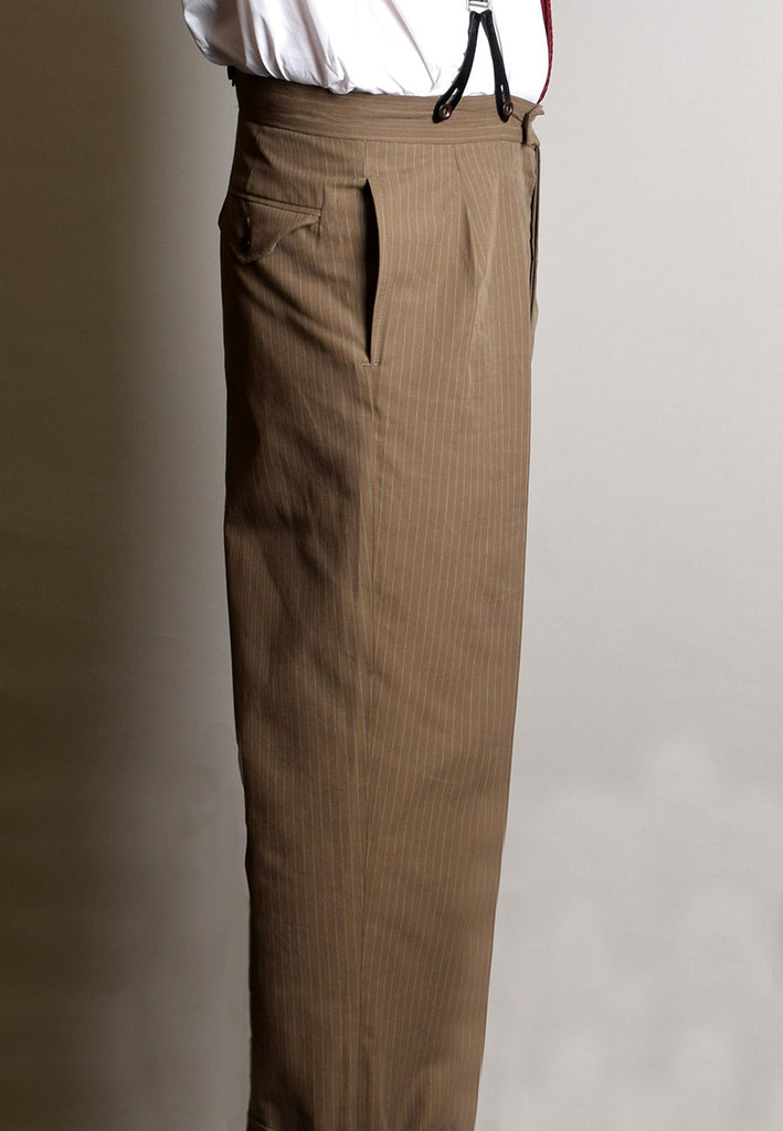Pleat Front Wide Leg 1950's Trousers (TR440)