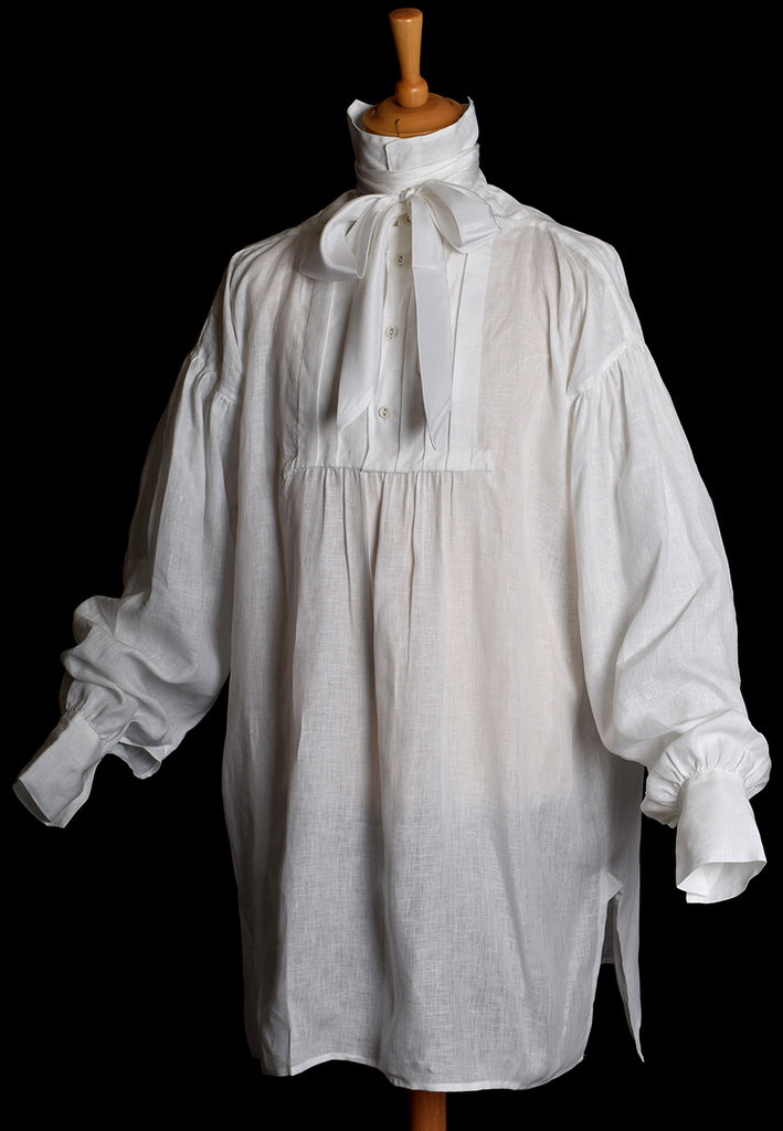 Linen Pleated Front Early Victorian Shirt (SH140)