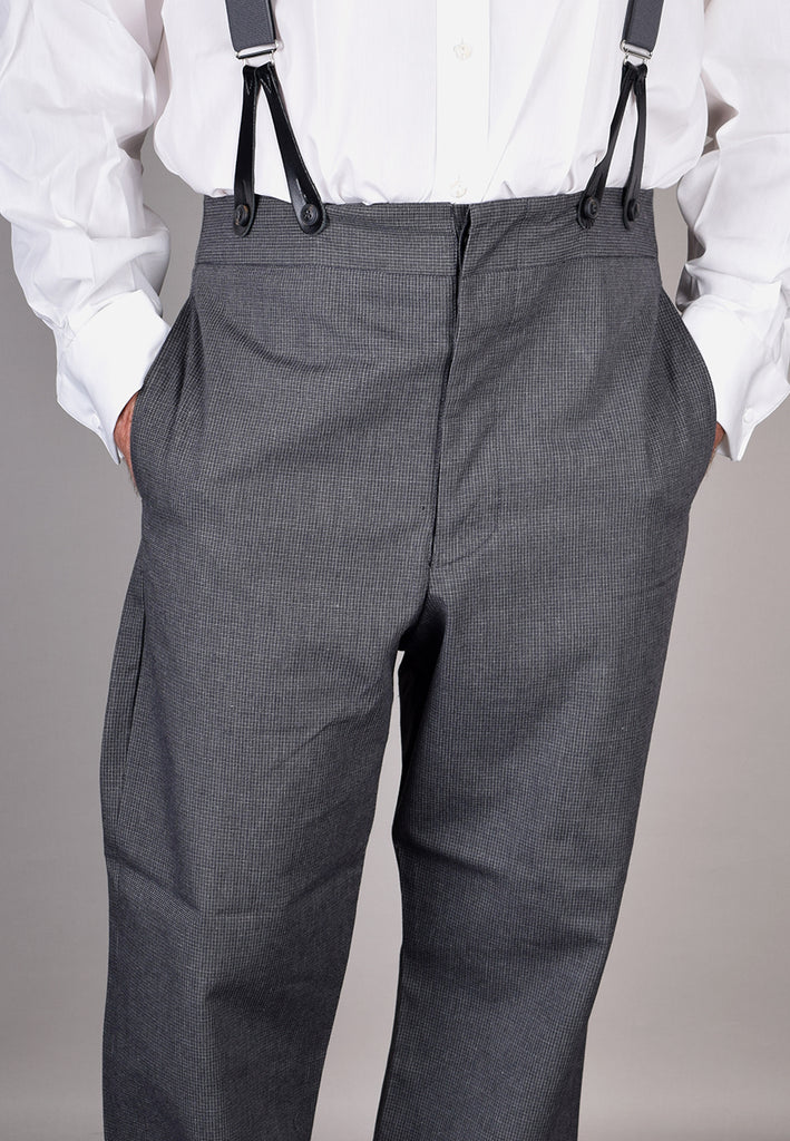 Charcoal Textured Weave Trousers (TR360)