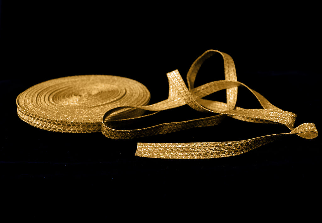 Textured Gold Mylar Military Braid 13mm (BDG007)