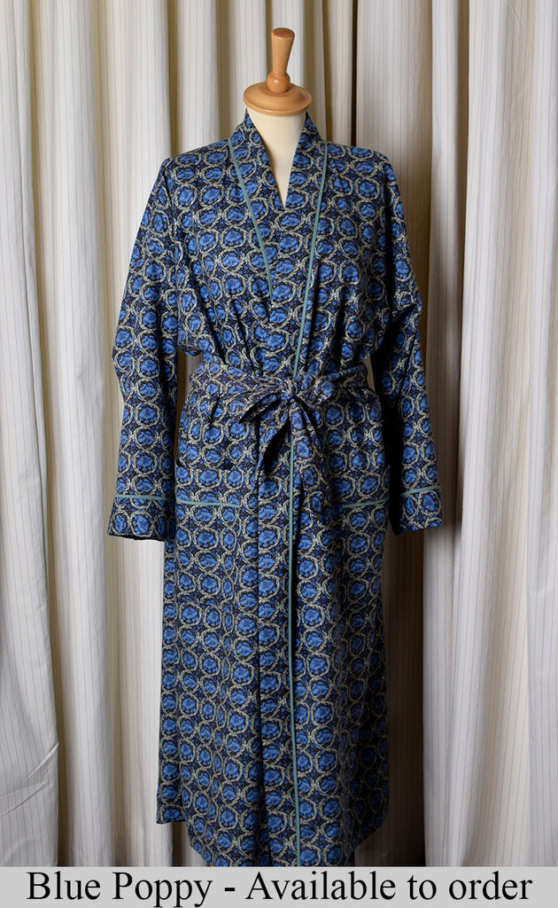 NW520 - Dressing Gowns - Blue Poppy - Available to Order