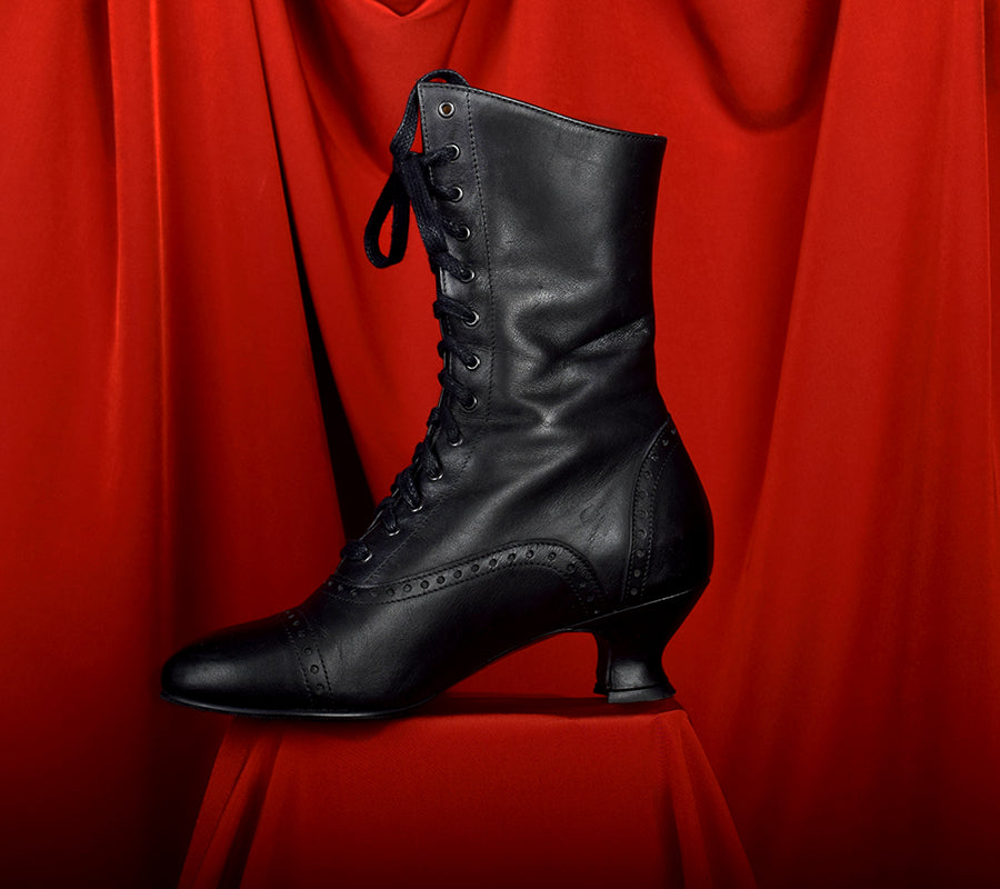 Victorian Side Zip Leather Boots