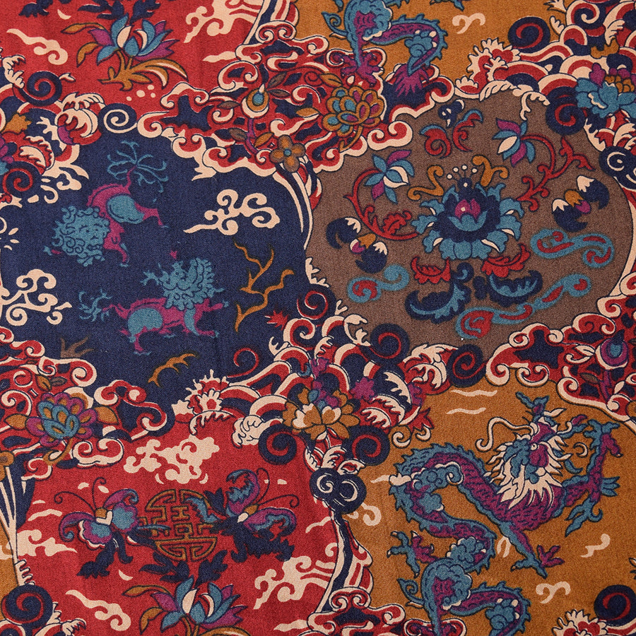 Chinese Patchwork Liberty Tana Lawn Fabric (FD-LIB-19)