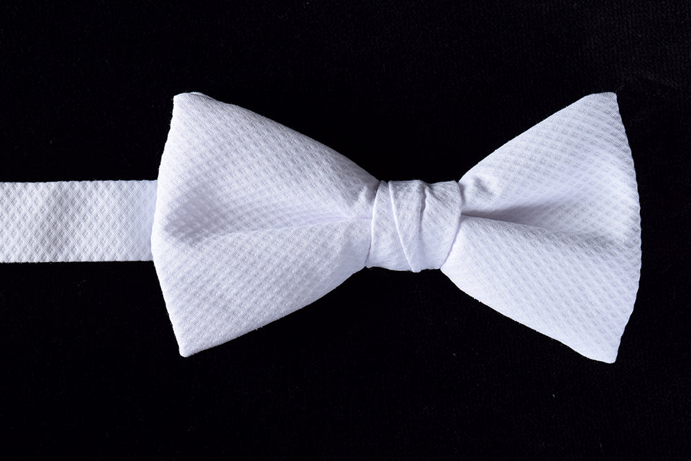 White Marcella Bow Ties - Ready Tied (CR540)