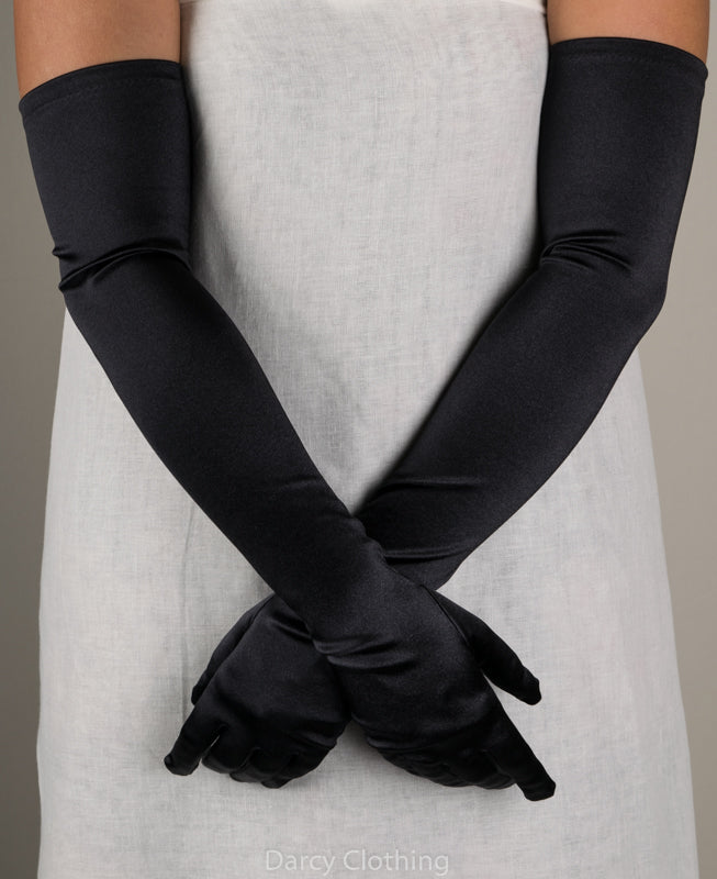 Full Length Satin Evening Gloves (GL652)