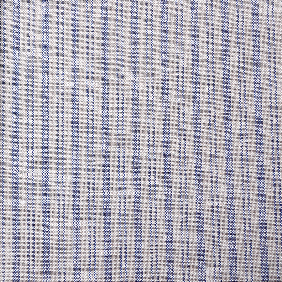 Grey/Blue  Linen Stripe Fabric (FD50)