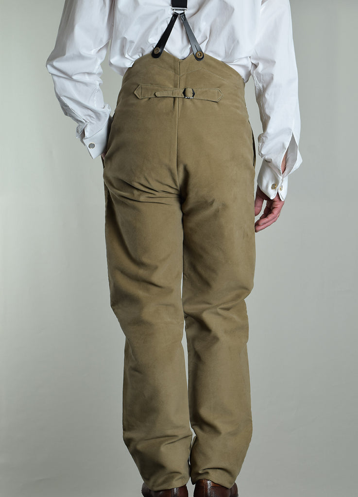 Cotton Moleskin High Waist Trousers (TR700)