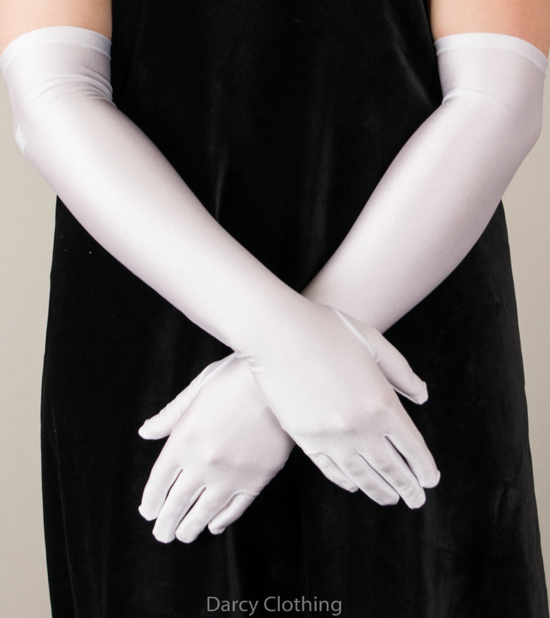 Elbow Length Matt Satin Gloves (GL651)