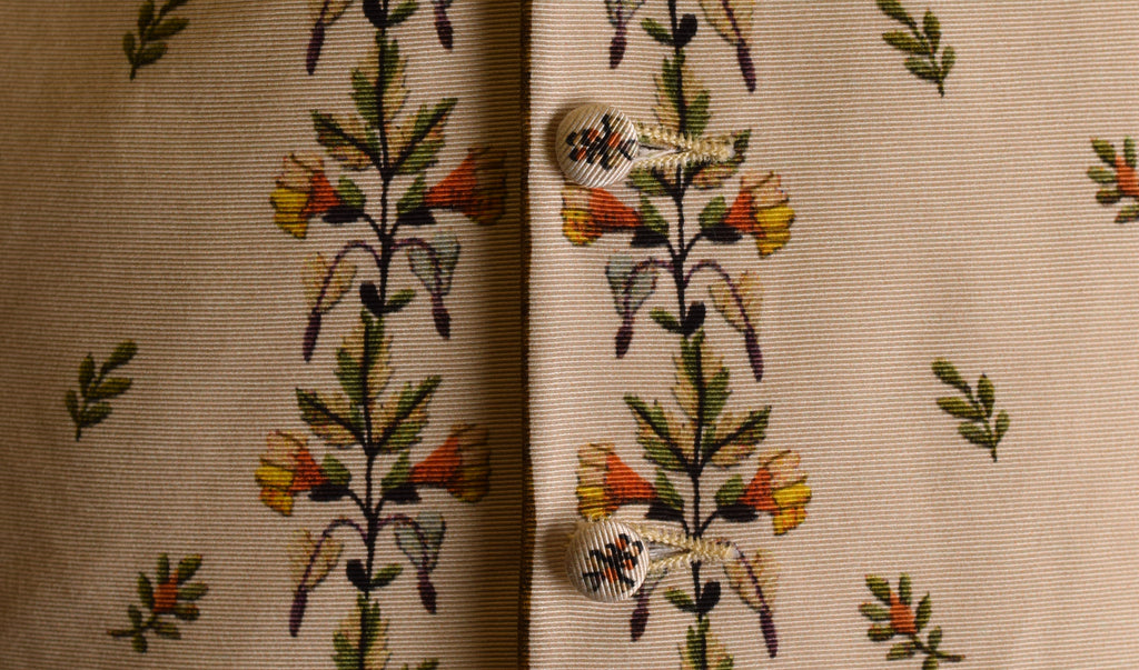C18th Floral Waistcoat (WC220)