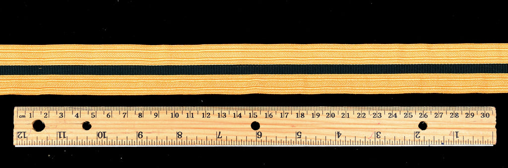 Gold Coloured Braid with Black Stripe (BDGS014)