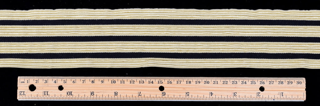 Wide Platinum Coloured Triple Striped Braid (BDP016)