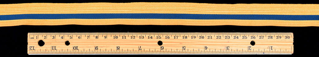 Gold Coloured Military Braid with Navy Stripe 25mm (BDGS013)