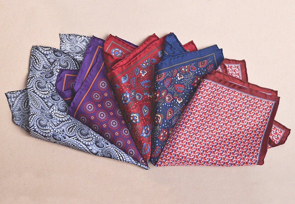 Printed Silk Pocket Square (HA99F)