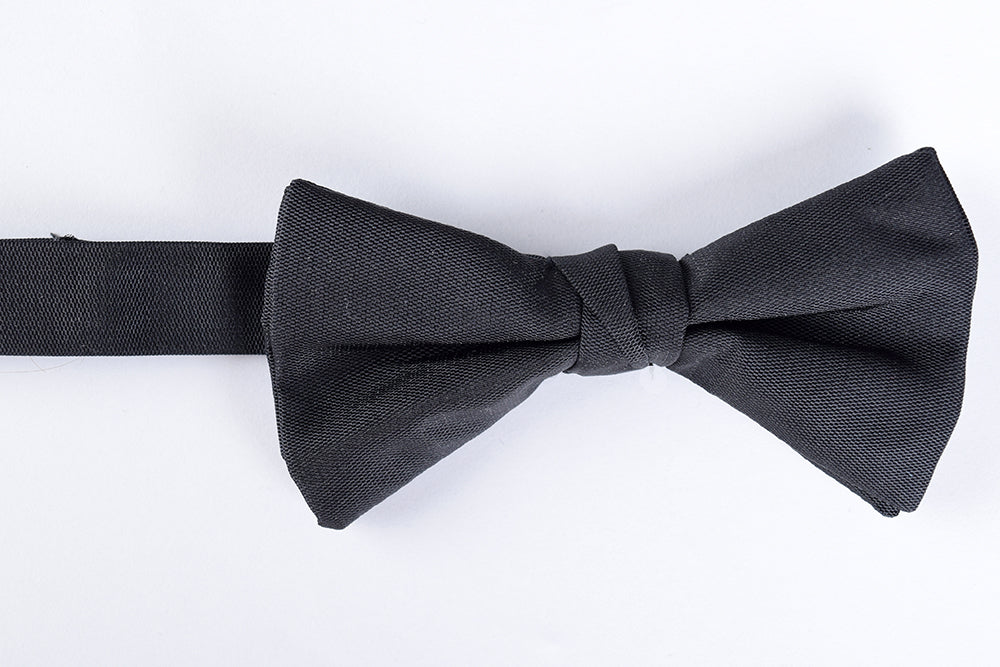 Black Silk Bow Ties - Ready Tied (CR530)