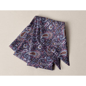 Purple/Blue Paisley Victorian Bow Tie