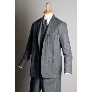 Grey Brushed Cotton Herringbone Jacket (JA300)