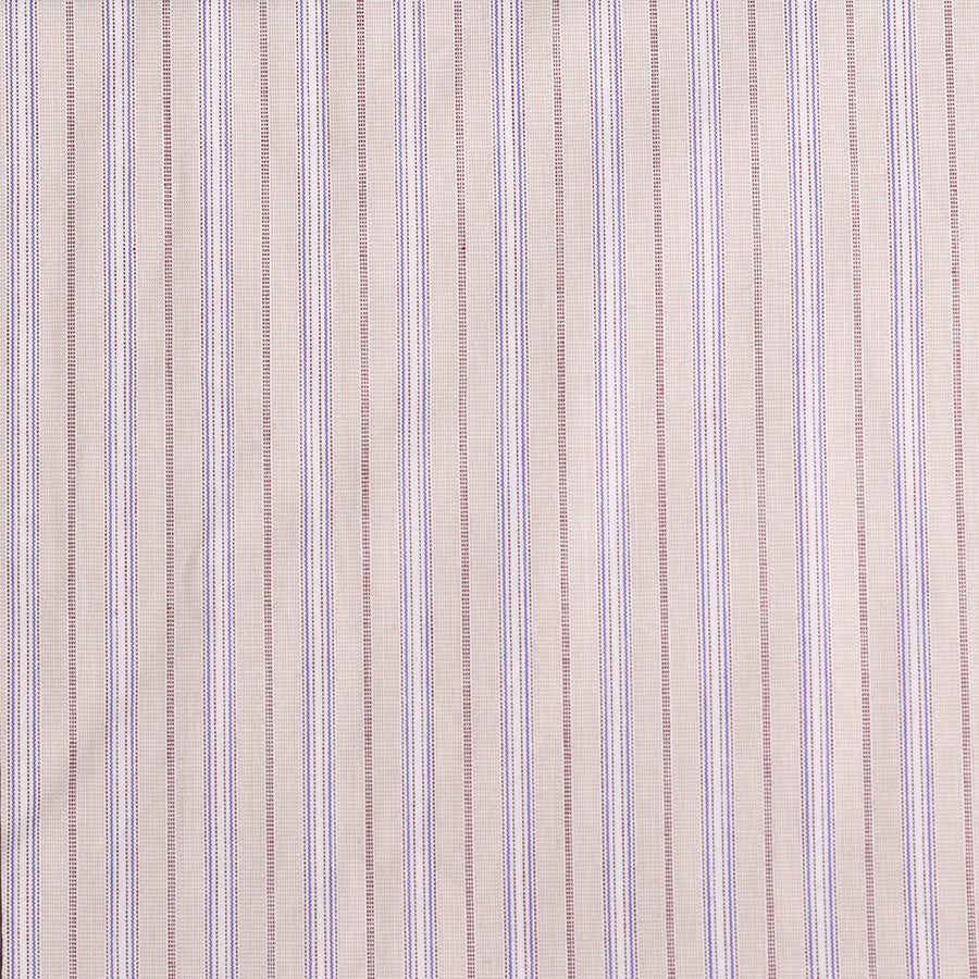 Fawn, Mauve & Blue Stripe Fabric (FD073)