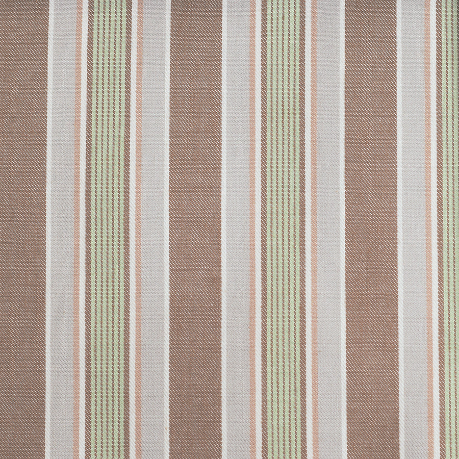 Green / Brown Stripe Pyjama Fabric (FD-HSC-4602)